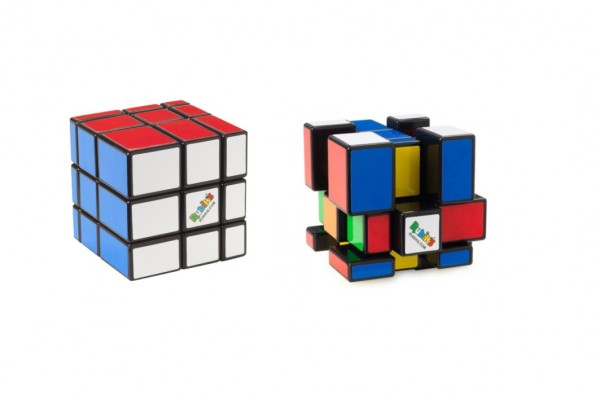 Rubikova kostka hlavolam 3x3x3 Rubikś blocks na kartě 17x24cm
