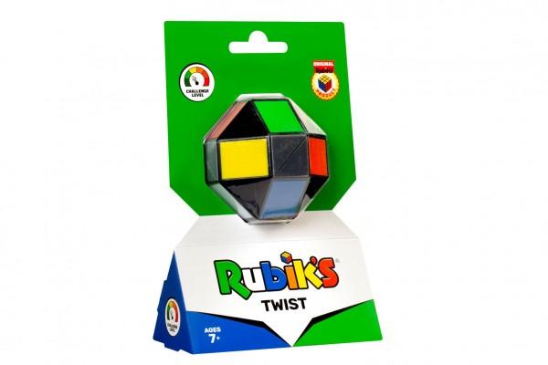 Rubikova kostka hlavolam barevný Twist na kartě 12x19x6cm