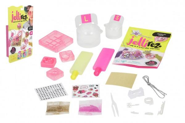 Jelli Rez - základní set pro výrobu bižuterie - Cukrovinky na kartě 17x28x5cm