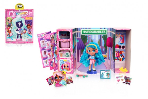 Hairdorables kouzelná panenka série 2 plast překvapení s doplňky v krabici 17x21x7,5cm