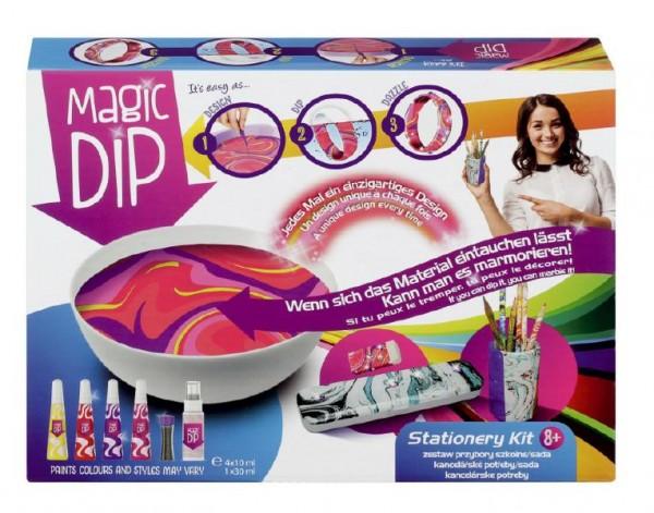 Kreativní sada Magic Dip malování s příslušenstvím kancelářské potřeby v krabici 27,5x20,5cm