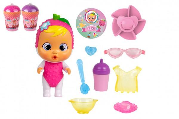CRY BABIES Magické slzy série Tutti Frutti panenka s doplňky v plastové dóze 12x17x19cm 9ks v boxu