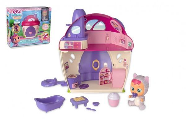 CRY BABIES Magické slzy plast panenka s domečkem a doplňky v krabici 38x33x13,5cm