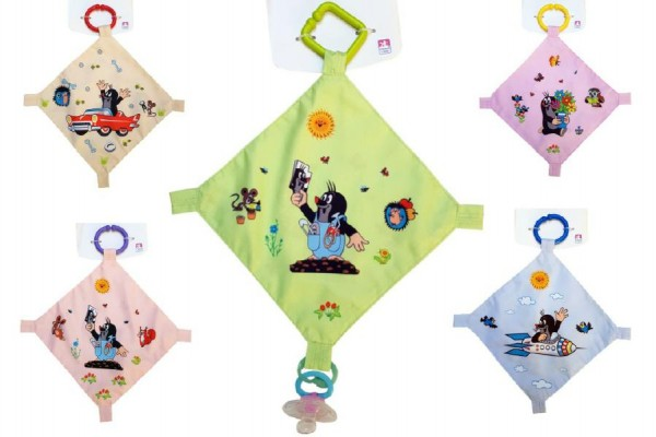 Usínáček Krtek plast/látka 30cm asst 5 barev na kartě
