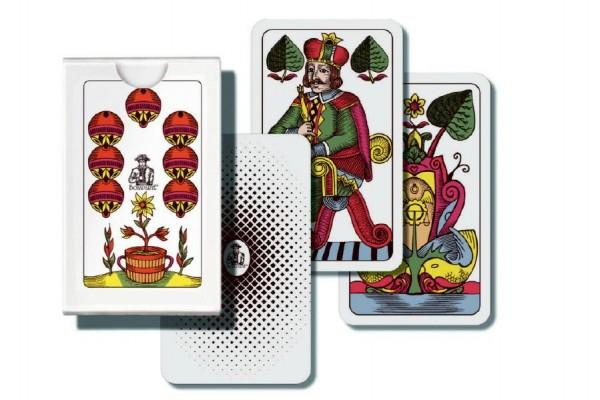 Mariáš jednohlavý společenská hra karty v papírové krabičce 6,5x10x1cm