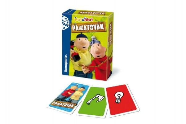 Pamatovák Pat a Mat postřehová karetní hra v krabičce 11x15x3cm