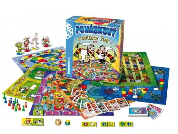 Pohádkový soubor 9 her společenská hra v krabici 32x37x7cm