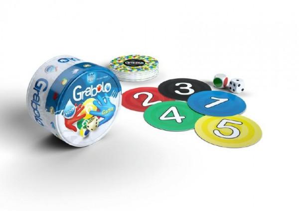 Grabolo společenská hra v plechové krabičce 8x8x5cm 8ks v boxu STRAGOO
