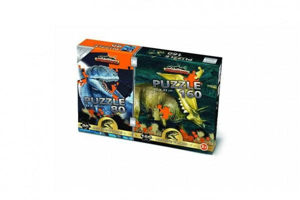 Puzzle 2v1 Prehistoric v krabici 35x23x3,5cm