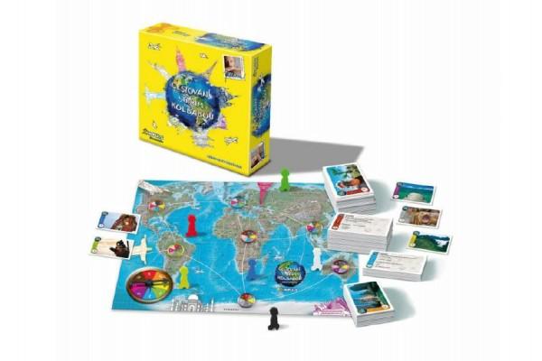 Cestování s Jiřím Kolbabou společenská hra v krabici 29,5x29,5x8cm