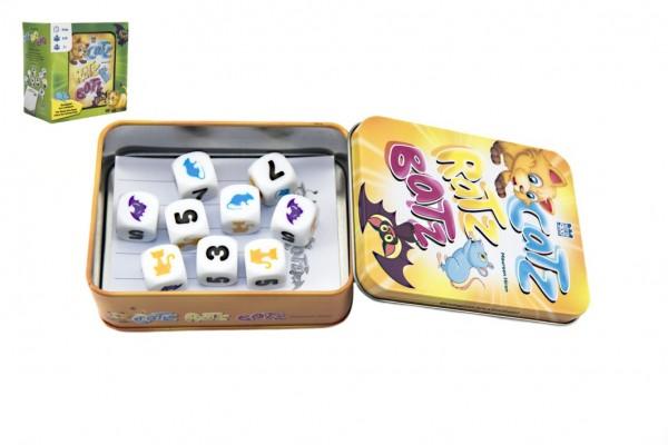 Catz-Ratz-Batz společenská hra v plechové krabičce 8x10x4cm v krabičce 13x13x8cm STRAGOO