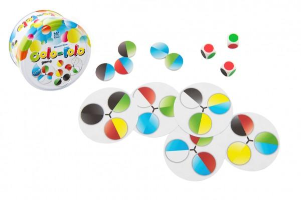 Colo-rolo společenská hra v plechové krabičce 9x5cm