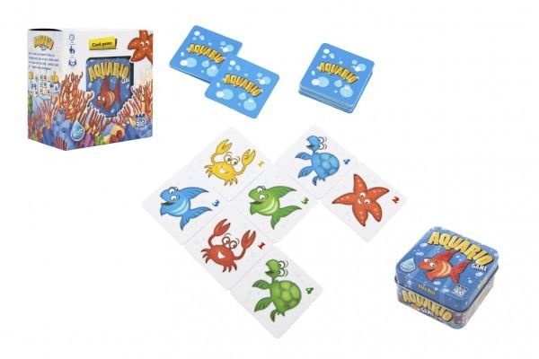Aquario společenská hra v plechové krabičce 13x13x7,5cm