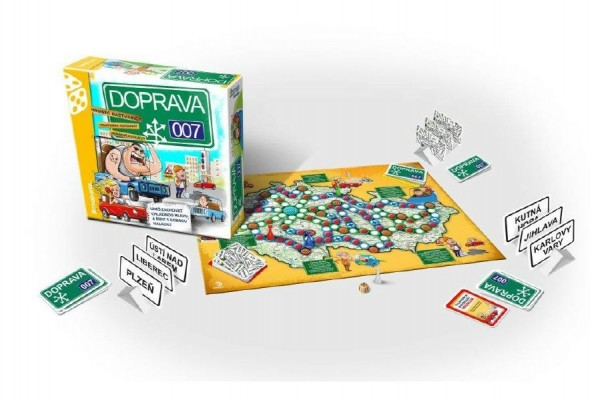 DOPRAVA 007 rodinná společenská hra v krabici 30x30x8cm