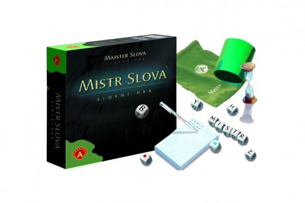 Mistr Slova společenská hra s kostkami v krabici 24,5x25,5x6cm