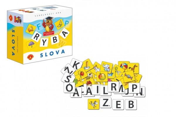 Slova didaktická společenská hra v krabičce 13,5x12,5x6cm