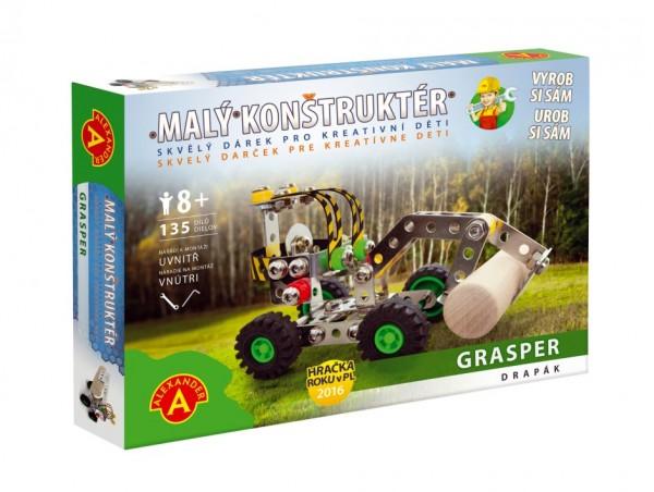 Malý konstruktér drapák Grasper kov 135ks stavebnice v krabici 23x17x3,5cm