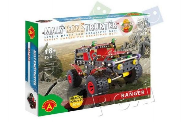 Malý konstruktér Auto terénní Ranger kov 354ks stavebnice v krabici 30x24x5cm