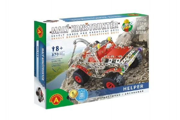 Malý konstruktér Helper Vyprošťovač 370 dílků kov stavebnice v krabici 30,5x24,5x5cm