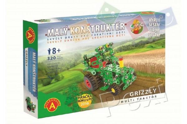 Malý konstruktér Grizzly multi traktor kov 320ks stavebnice v krabici 31x22x5cm