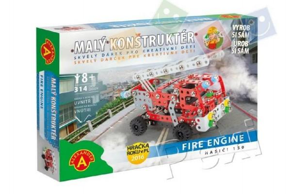 Malý konstruktér Fire Engine Hasiči 150 kov 314ks stavebnice v krabici 31x22x5cm