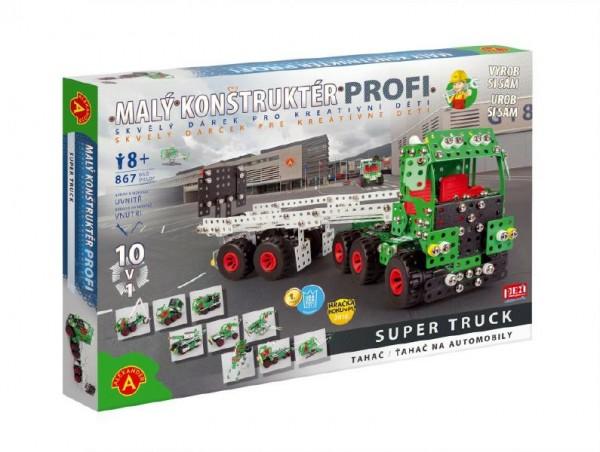 Malý konstruktér Profi Super Truck Tahač kov 867ks stavebnice v krabici 50x35x5cm