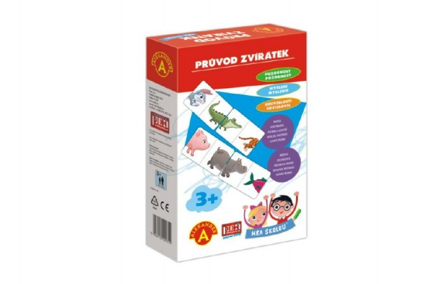 Hra školou® Průvod zvířátek kreativní a naučná hra v krabici 16x25x5cm