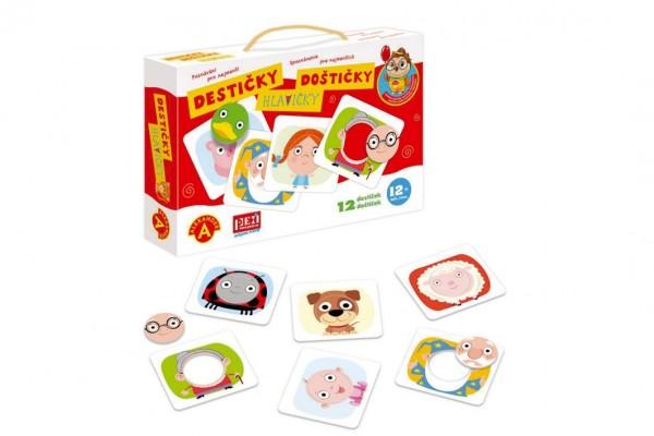 Poznávání pro nejmenší - Destičky Hlavičky naučná hra v krabici 28x19x5cm