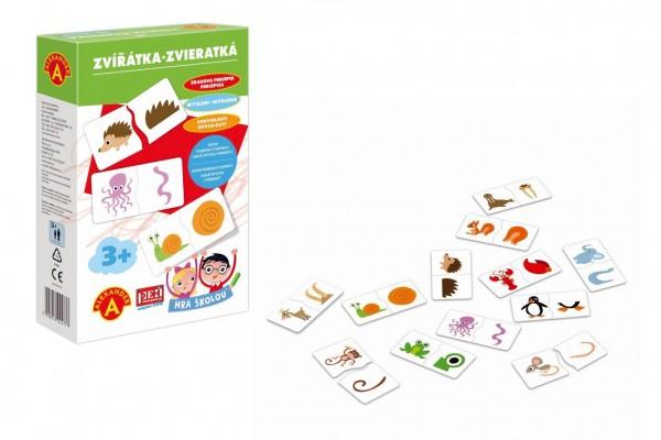 Hra školou® Zvířátka kreativní a naučná hra v krabici 16x25x5cm