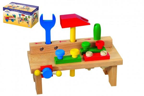 Stůl s nářadím dřevo 8ks v krabici 25x14x12cm