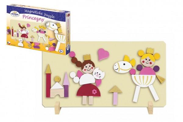 Magnetické puzzle Princezny v krabici 33x23x3,5cm
