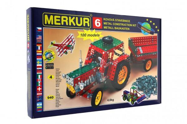 Stavebnice MERKUR 6 100 modelů 940ks 4 vrstvy v krabici