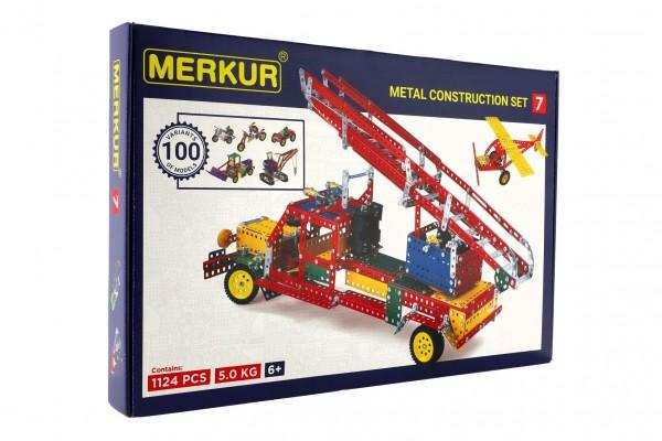 Stavebnice MERKUR 7 100 modelů 1124 ks 4 vrstvy v krabici