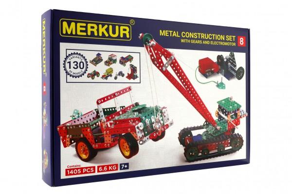 Stavebnice MERKUR 8 130 modelů 1405 dílů 5 vrstev v krabici