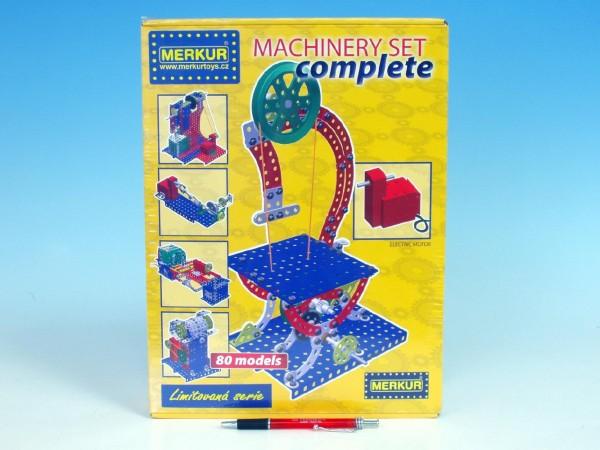 Stavebnice MERKUR Machinery set Complete 80 modelů v krabici 27x36x8cm