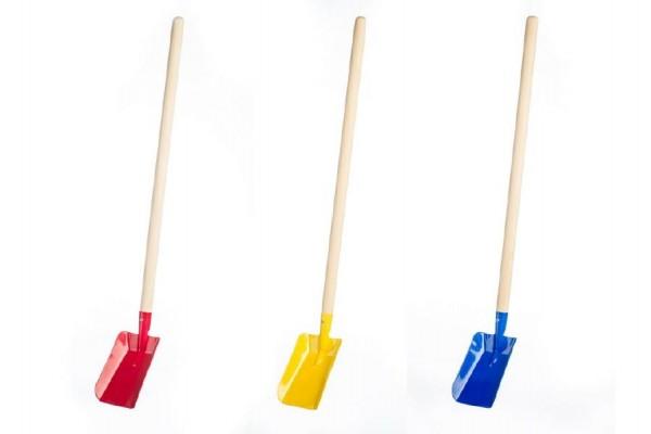 Lopata s násadou kov/dřevo 80cm asst 2 barvy nářadí