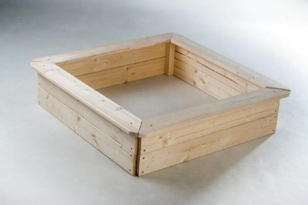 Pískoviště dřevo přírodní 4 sezení 80x80x20cm