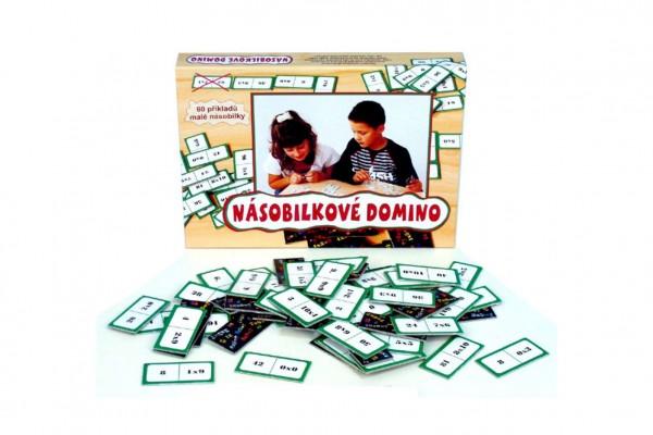 Násobilkové domino společenská hra 60ks v krabici 22x16x3cm