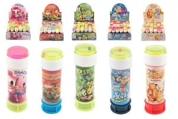 Bublifuk 60ml mix druhů v plastové lahvičce 3,5x11cm 36 ks v boxu