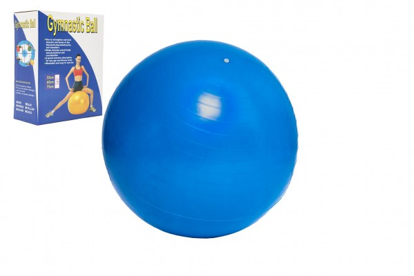 Gymnastický míč 65cm rehabilitační relaxační v krabici 16x22cm