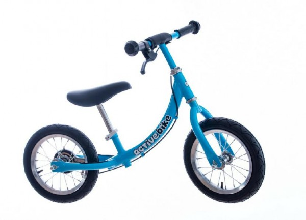 """Odrážedlo modré kov 12"""" nosnost 30kg v krabici 73x33x18cm Active Bike 2+"""