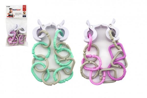 Řetěz/zábrana plast 43cm 4 barvy v sáčku 14x25x5cm 0m+