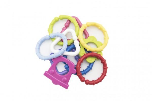 Řetěz/zábrana tvary plast 6cm 15ks v krabičce 12,5x16cm 0m+
