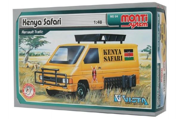 Stavebnice Monti 04 Kenya Safari  Renault Trafic 1:48 v krabici 22x15x6cm