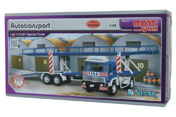 Stavebnice Monti 19 Autotransport Liaz 1:48 v krabici 31,5x16,5x7,5cm
