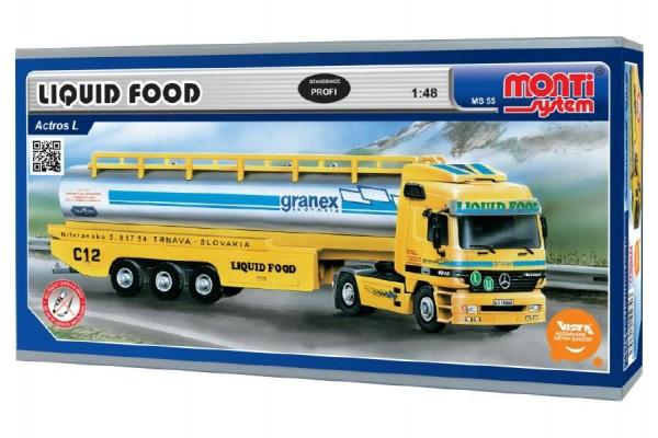 Stavebnice Monti System MS 55 Liguid Food Actros L-MB 1:48 v krabici 31,5x16,5x8cm