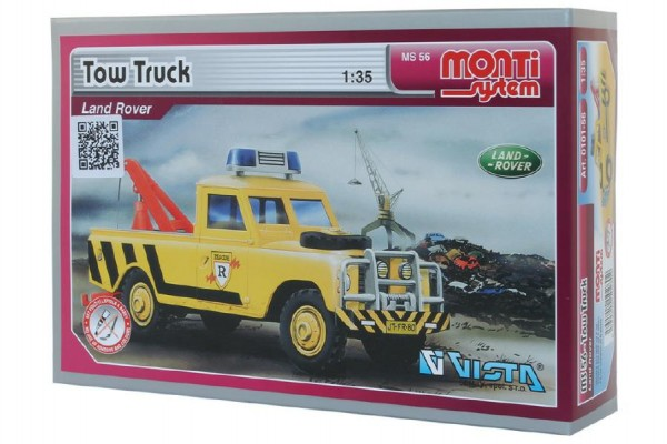 Stavebnice Monti System MS 56 Tow Truck Land Rover 1:35 v krabici 22x15x6cm
