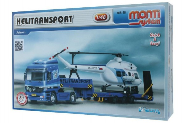 Stavebnice Monti System MS 58 Helitransport 1:48 v krabici 32x20,5x7,5cm
