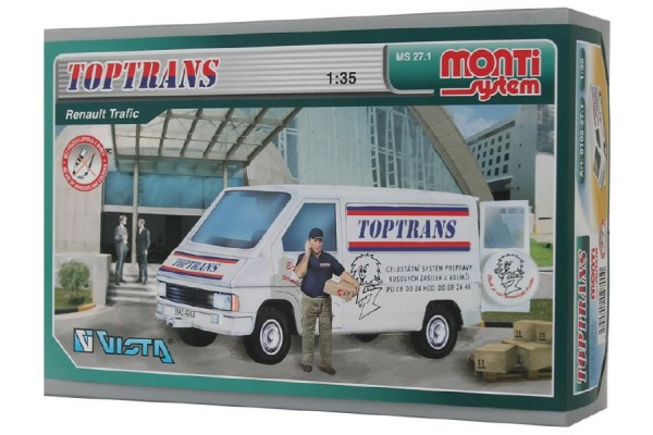 Stavebnice Monti 27.1 Toptrans Trafic 1:35 v krabici 22x15x6cm