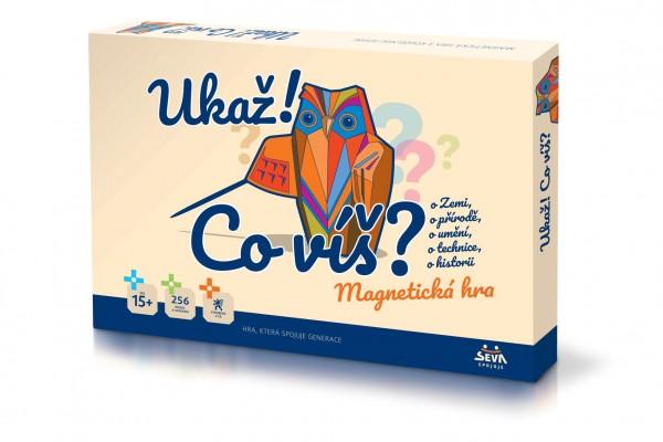 Ukaž! Co víš? společenská magnetická hra v krabici 42x29x6cm 15+